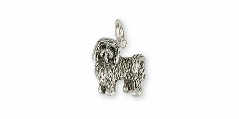 Tibetan Terrier Charm Jewelry Sterling Silver Handmade Dog Charm TTR1-C