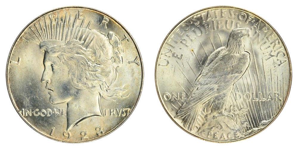 BU 1923-S Peace Dollar Brilliant Uncirculated