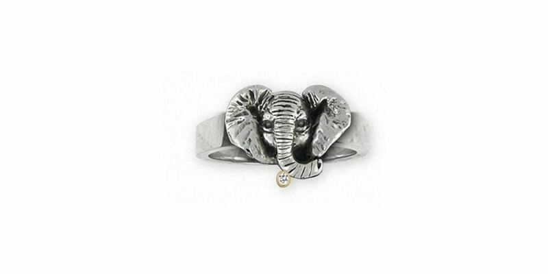Elephant Jewelry Sterling Silver Elephant Ring Handmade Wildlife Jewelry EL6-R