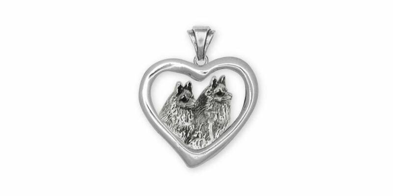Schipperke Jewelry Sterling Silver Schipperke Pendant Handmade Dog Jewelry SC6-T