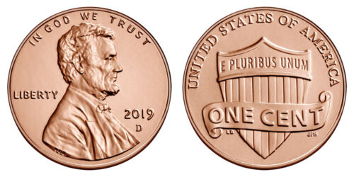 Roll of 2019 D Uncirculated Pennies