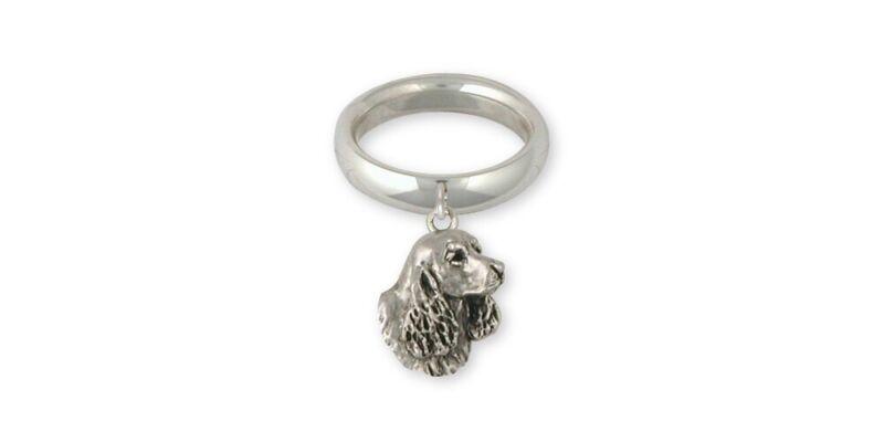 Springer Spaniel Ring Jewelry Sterling Silver Handmade Dog Ring SS6S-CR