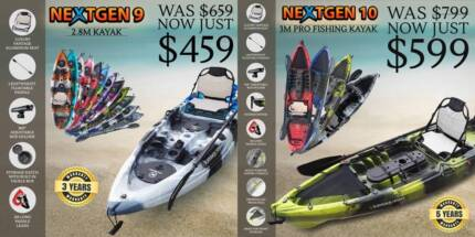NEXTGEN KAYAKS IN ADELAIDE - ALUMINIUM SEAT + PADDLE + LOT MORE