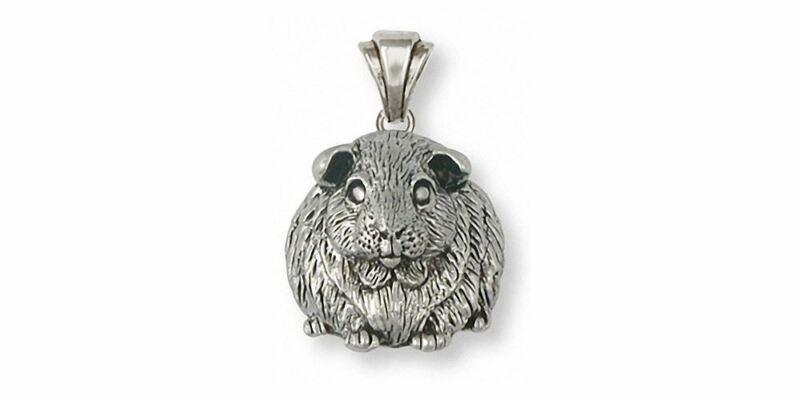 Guinea Pig Pendant Jewelry Sterling Silver Handmade Piggie Pendant GP1-P