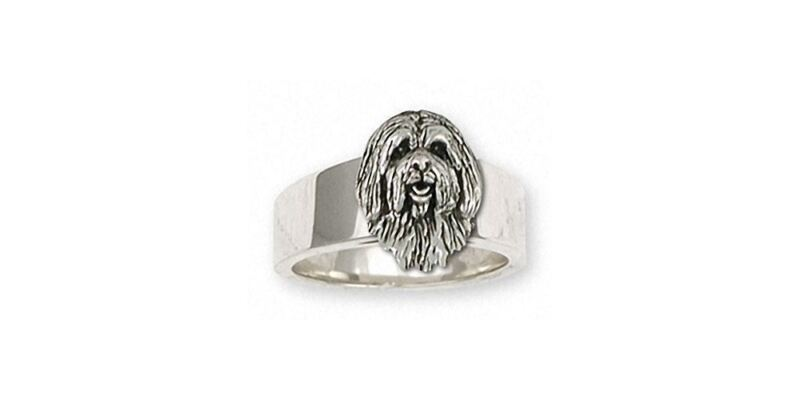 Tibetan Terrier Ring Jewelry Sterling Silver Handmade Dog Ring TRR1H-R