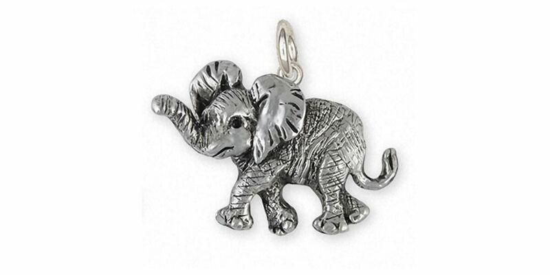 Elephant Jewelry Sterling Silver Elephant Charm Handmade Wildlife Jewelry EL3-C