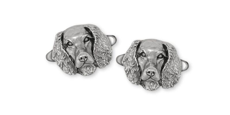 Springer Spaniel Cufflinks Jewelry Sterling Silver Handmade Dog Cufflinks SPS-CL