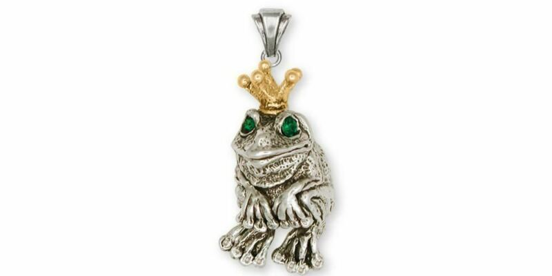 Frog Pendant Jewelry Silver And Gold Handmade Frog Pendant FG14-TTP