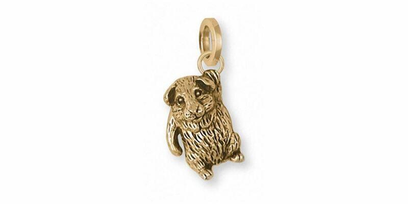Guinea Pig Charm Jewelry 14k Gold Handmade Piggie Charm GP3-CG