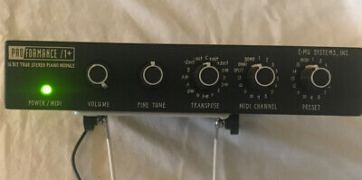 Proformance +1 16 Bit True Stereo Piano Module By e-mu Systems Used FPOR