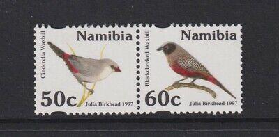 Namibia - 1997, Waxbills, Birds set - MNH - SG 710/11
