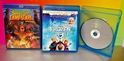 Scooby Doo Camp Scare Frozen Race 2 Witch Mountain  3 Blu-Ray Disc Movie Set Lot for sale  Shipping to India
