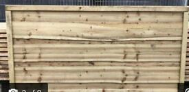 Waneylap heavy duty pressure treated fence panels