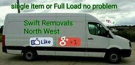 Swift Removals Man And Van, CHEAP PRICES - Lancashire -Preston Blackpool Blackburn