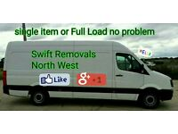 Swift Removals Man And Van, CHEAP BUDGET PRICES Lancashire -Preston & Surroundings