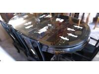 Chinese/Oriental/Asian Mother Of Pearl Dining Table