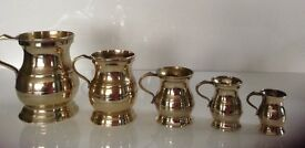 Brass Tankards (Set of Five)