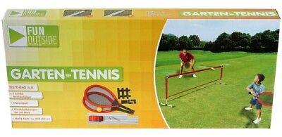 Tennis Set für 2 Personen Garten Tennis Schläger Ball Netz Outdoor