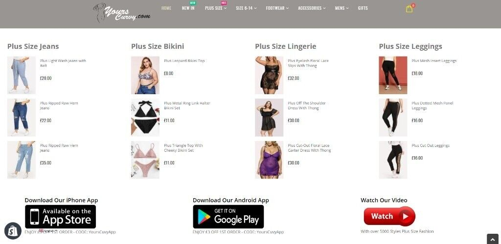 Plus Size Clothing Shopify Dropship Website with iPhone & Android custom  native mobile App | in Barnet, London | Gumtree
