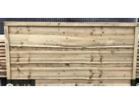 Superb quality heavy duty waneylap pressure treated fence panels