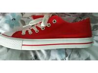 Red New Look Converse like shoes