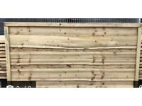 Feather edge heavy duty tanalised timber fence panels