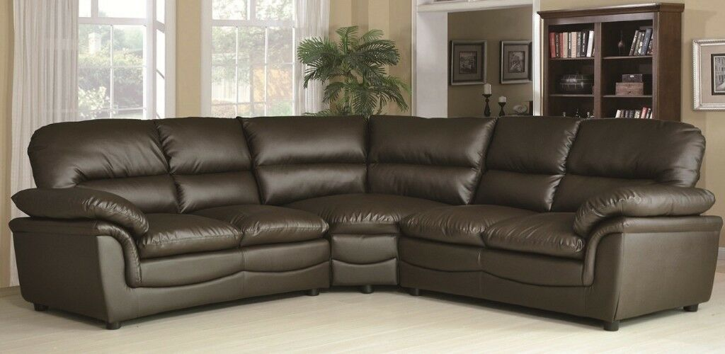 Half Price Leather Corner Group Sofas In Stock Grey Black Brown Cream