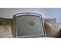 Large Hand Made Rene Wall Mirror, Silver Coated Steel Frame