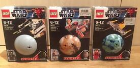 Lego Star Wars Planets Series 1. Full set of 3. 9674, 9675, 9676. Brand new