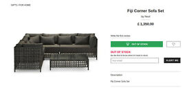 Brand new / unused Next Fiji garden corner sofa set RRP £1350