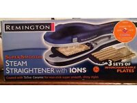 Remington steam straighteners with changeable wave and crimp plates!