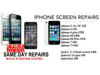 iPhone Screen repairs Replaced/ Laptop Repair While you Wait Service with Warranty (Special offers)
