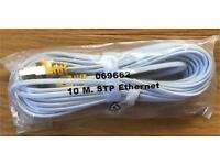 10m STP ethernet cable white