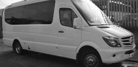 Easy Minibus Hire Glasgow With Driver. Save 30% Today on 8,12,16 Seat Minibuses.