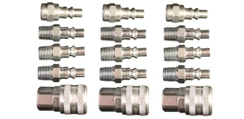 """(15 Pack) MILTON 775 777 778 Air Hose Couplers A Style 1/4"""" Plug Fitting Nipples"""