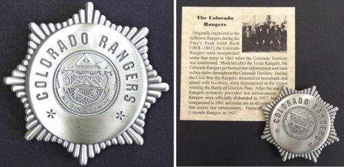 Colorado Rangers Badge, Old West, Western, silver