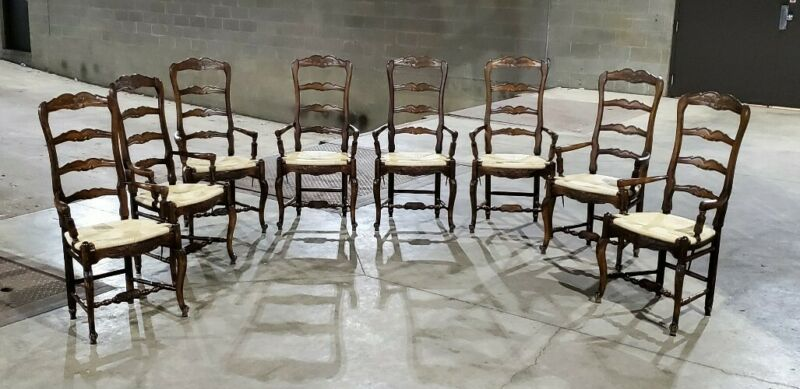 (8) Habersham Plantation Arm French Country Dining Chairs (Ask for Shipping)