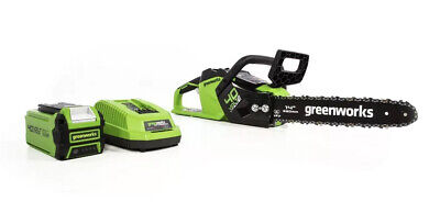 New !! Greenworks 14 inch 40V Chainsaw With 2.5Ah Battery & Charger Included !!