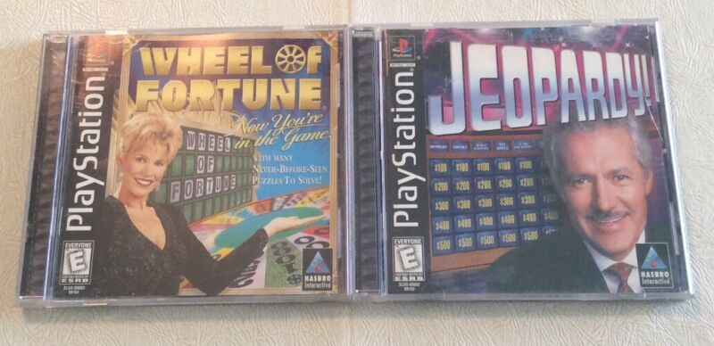 2 GAME LOT Jeopardy & Wheel Of Fortune PlayStation 1 PS1 COMPLETE Nice FREE S/H!