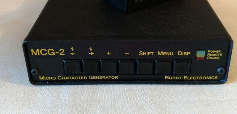 Burst Electronics Micro Character Generator MCG-2 - no power cable