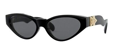 VERSACE VE4373 GB1 87 Black Smoke 54 mm Women's Sunglasses