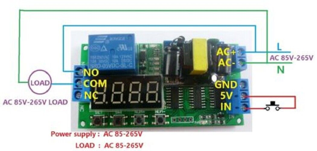 Dc Timer Switch Wiring Diagram on