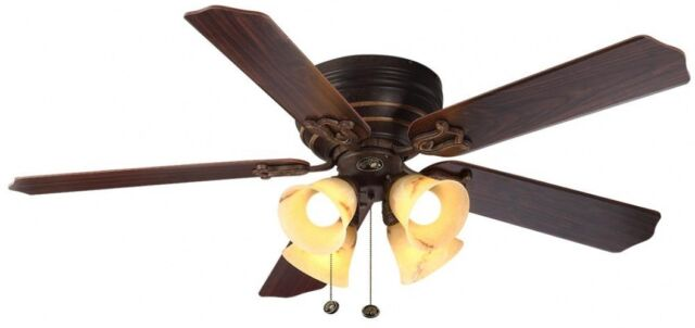 Hampton bay carriage house 52 in iron indoor ceiling fan 46011 ebay led indoor iron ceiling fan with light home dcor design mozeypictures Images