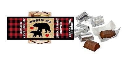 Lumberjack Party (LUMBERJACK BLACK BEAR CUSTOM HERSHEY NUGGET WRAPPERS BABY SHOWER PARTY)