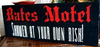 Bates Motel Sign (Bates Motel Sign Shower at Your Own Risk Halloween)