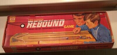 Vintage Board Game REBOUND Ideal Co. two 2 Cushion Marble Complete in Box -