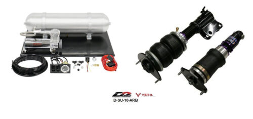 D2 Air Struts + Vera Basic Air Suspension Fits 2008+ Subaru Impreza Sti