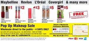 Brand Name Cosmetics POP UP Sale Cabramatta Cabramatta Fairfield Area Preview