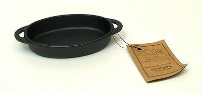 Old Mountain Cast Iron Two -  Oval  Single Serve Baking Dishes   #10191