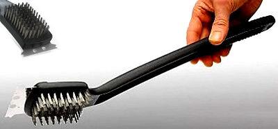 XXL Grill Reinigungsbürste mit Metallschaber | Grillzubehör | Grillbürste